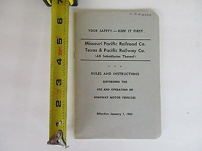 Missouri Pacific & Texas Pacific Railway Co. Rules Booklet 1963