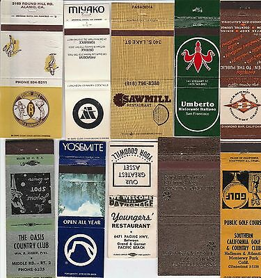 Lot Of 20 Different California Matchbook Covers.  #6