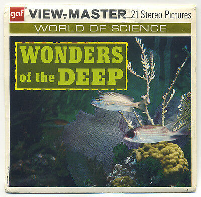 Wonders of the Deep off the coast of Bahama Islands GAF View-Master Packet B-612