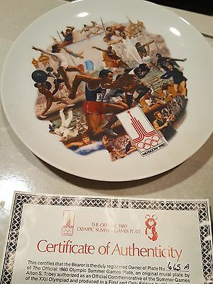 1980 Olympic Games plate (Moscow) - Summer Games