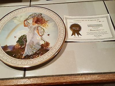 Collector Plate - Inncence - Goddess of Spring w/COA