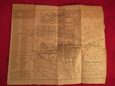 1866 Lord Provost Map Of Plan Of Edinburgh Scotland With Suburbs & Improvements