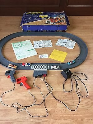 """Vintage 1977 Ideal Tcr """"total Control Racing"""" Slotless Race Track Speedway Set"""