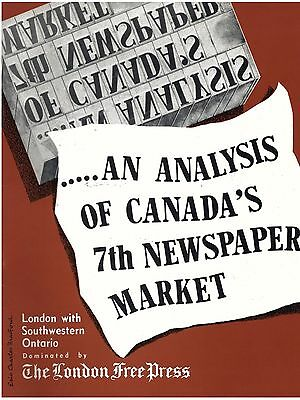 THE LONDON FREE PRESS NEWSPAPER - 1958 Advertising Booklet - London, Canada
