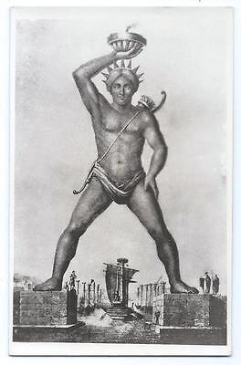 RPPC GREECE Colossus Of Rhodes Real Photo Unposted Post Card #1750