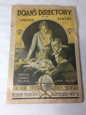 DOAN'S DIRECTORY of the UNITED STATES: Official Census Figures. 1932