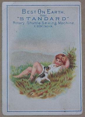 Victorian Trade Card Best On Earth The Standard Rotary Shuttle Sewing Machine