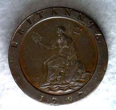 GREAT BRITAIN 2 PENCE 1797 EXTRA FINE++ (Stock# 0269)