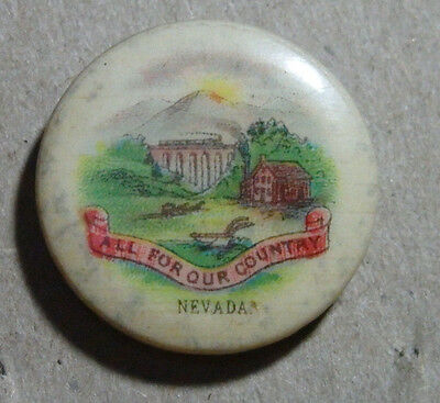 1896 Collectible Pinback State Of Nevada By Sweet Caporal Cigarettes