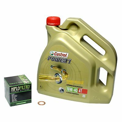 Honda CB 500 /S, 94-03, PC26 PC32; Castrol Power1 10w40 Öl; HiFlo Ölfilter Set