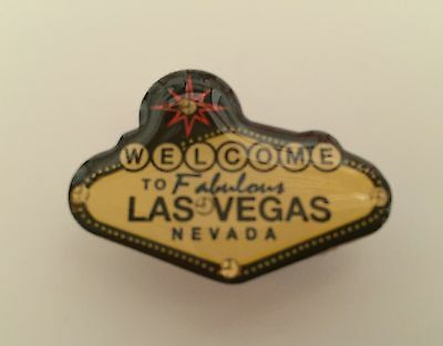 Las Vegas Welcome Sign Lighted Lapel Collector Pin Hat Jacket LED Lights