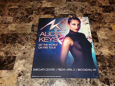 Alicia Keys Rare 2013 Tour Lithograph Poster The World On Fire New York City New