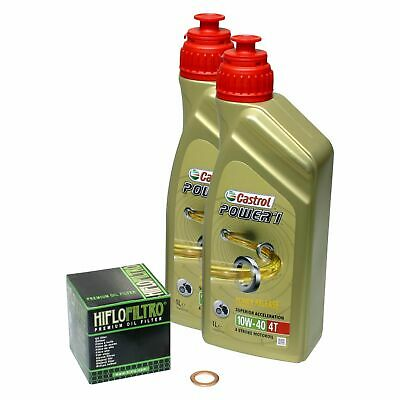 Honda XL 125 V Varadero, 01-13, JC32 JC49; Castrol Power1 10w40 Öl; HiFlo Filter