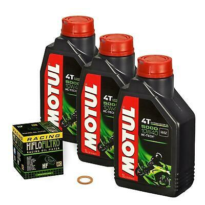 Yamaha YZF 600 R Thunder Cat, 96-02, 4TV 4WD; Motul 10w40 Öl HiFlo Racing Filter