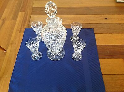 Beautiful Antique Crystal Decanter Set - Over 50 Years Old - Cut Glass