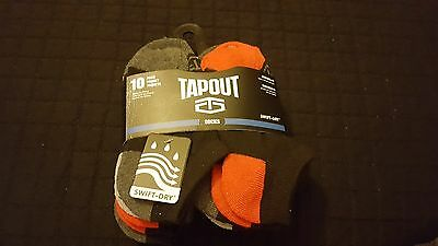 Tapout Boys Socks 10 Pair Pack Toddlers Kids Sock Size 4-6 Shoe Size 7-10 New S5