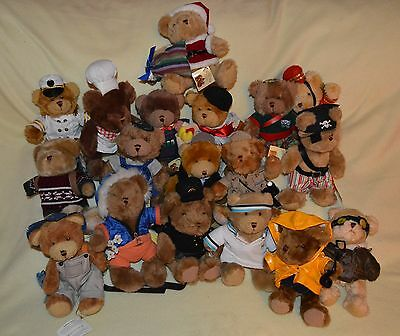 The Teddy Bear Collection - 18 Teddy Bears with Tags and Magazines