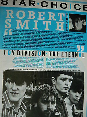 Joy Division - Magazine Cutting (Full Page Photo W/songwords) (Ref Xc)