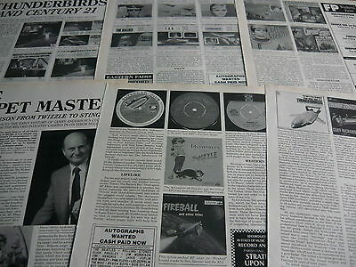 The Thinderbirds/gerry Anderson - Magazine Cuttings Collection (Ref X)