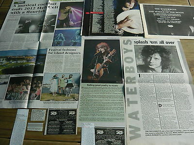 The Waterboys - Magazine Cuttings Collection (Ref S10)
