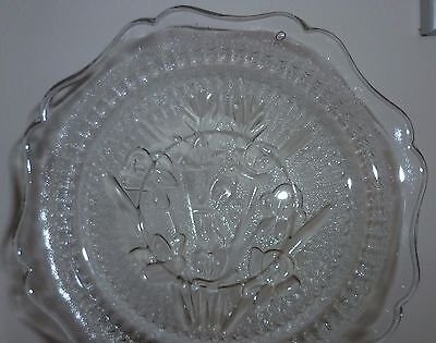 5 x Small Unusual Vintage Patterned Glass Plates