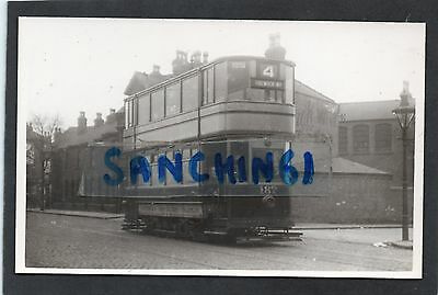 Nottingham Trams Postcard Size Old Photo Car 187 To Colwick Road Ref49