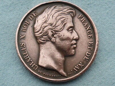 French Charles X Roi De 1827 Bronze