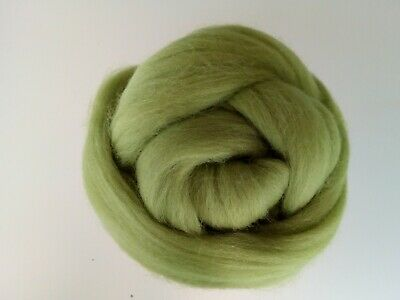 Willow Green* 100% Merino Wool Roving Tops for Needle and Wet Felting, 50 g
