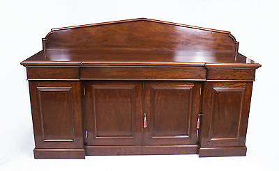 Antique Victorian Flame Mahogany Sideboard Chiffonier C1860