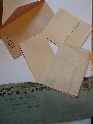 Original WW2 Joining up papers notice to join Territorial Army 1939 dated x 3