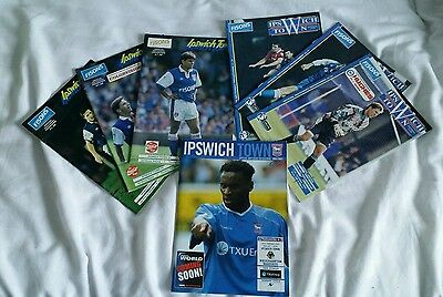 Football Programme collection IPSWICH TOWN  Premier League & Cup + Ticket stubs