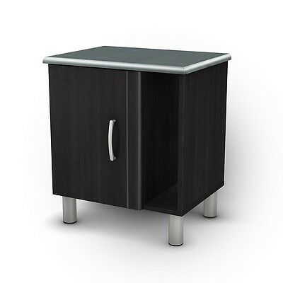South Shore Baraz Nightstand - Black Onyx & Charcoal