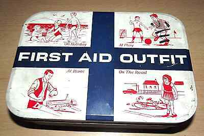 Vintage first aid outfit tin