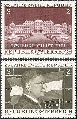 Austria 1970 Republic 25th Anniversary/People/Buildings/Architecture 2v (n44274)