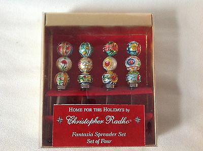 Christopher Radko Home For the Holidays Spreader Set Hand Painted NIB