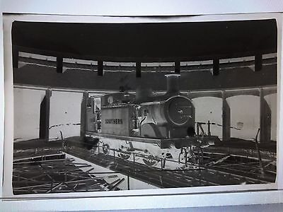 C1950/60's.southern Steam Train Locomotive 236 In Shed Photo Negative