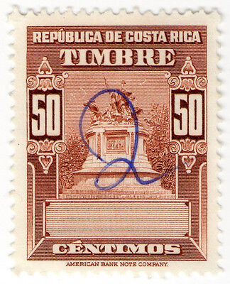 (I.B) Costa Rica Revenue : Duty Stamp 50c