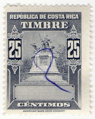 (I.B) Costa Rica Revenue : Duty Stamp 25c