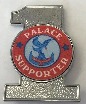 Crystal Palace No.1 Supporter FOOTBALL INSERT METAL BADGE