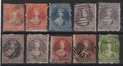 1864-71 QV New Zealand Chalons used range to 1s
