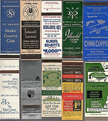 Lot Of 20 Different Illinois Matchbook Covers.  #10