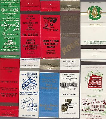 Lot Of 20 Different Illinois Matchbook Covers.  #4