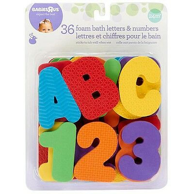Babies R Us Foam Bath Letters and Numbers Set - 36 Pieces