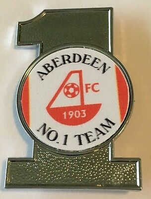 Aberdeen No.1 Team Football INSERT METAL BADGE