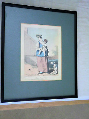 PEASANT WOMAN & CHILD  by J.A ATKINSON. 1804