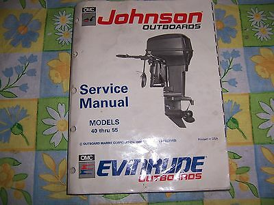 omc Johnson   Evinrude Outboards service manual  w/diagrams .Mdls  40-55