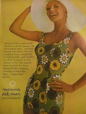 Marina Del Mar, California Swimsuits, Full Page Vintage Print Ad
