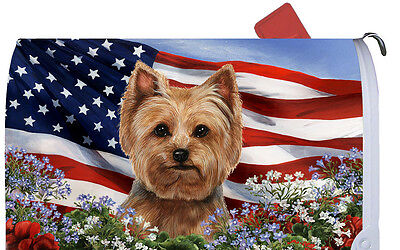 Patriotic Mail Box Cover - Yorkshire Terrier Yorkie Pup 09108