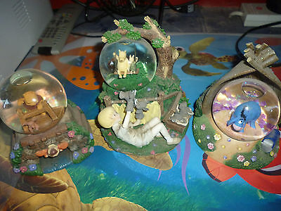 3 Winnie the Pooh Globes Good Condition As Seen in Pictures