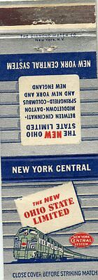 New York Central Railroad, New Ohio State Limited Matchbook
